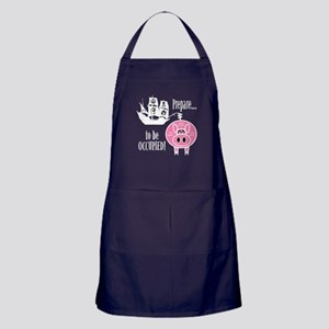 Prepare to Be Occupied Pirate Occupy Apron (dark)